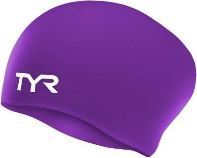 Шапочка силиконовая TYR Long Hair Wrinkle-Free Silicone Cap, цвет 510 (Purple)