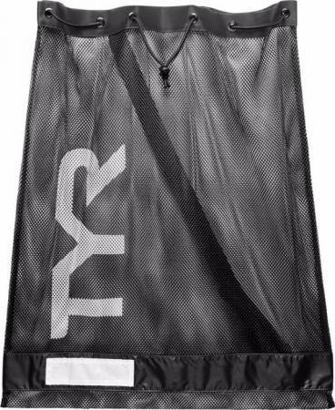 Сумка сетка для бассейна TYR Alliance Mesh Equipment Bag, цвет 001 (Black)
