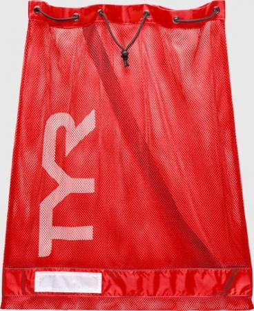 Сумка сетка для бассейна TYR Alliance Mesh Equipment Bag, цвет 610 (Red)