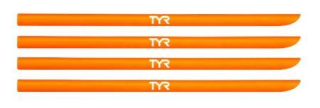 Резинки для лопаток TYR Hand Paddle Replacement Straps, цвет 820 (Fl.Orange)