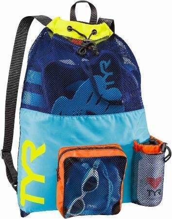 Рюкзак сетка TYR Big Mesh Mummy Backpack, цвет 465 (Blue/Yellow)
