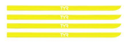Резинки для лопаток TYR Hand Paddle Replacement Straps, цвет 730 (Fl.Yellow)